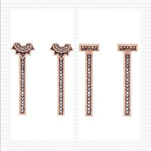 Jewelry - Bronze 3 in 1 Interchangeable Bar Backing Earrings